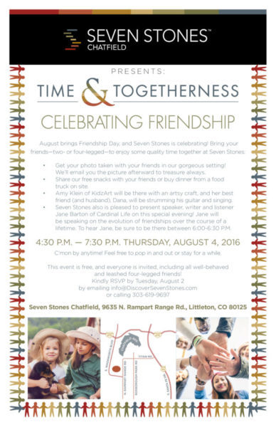 Time and Togetherness event at Seven Stones