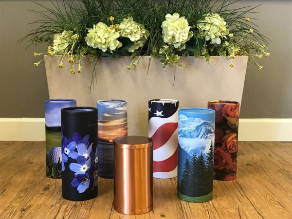 Eco-friendly Paper Urns at Seven Stones