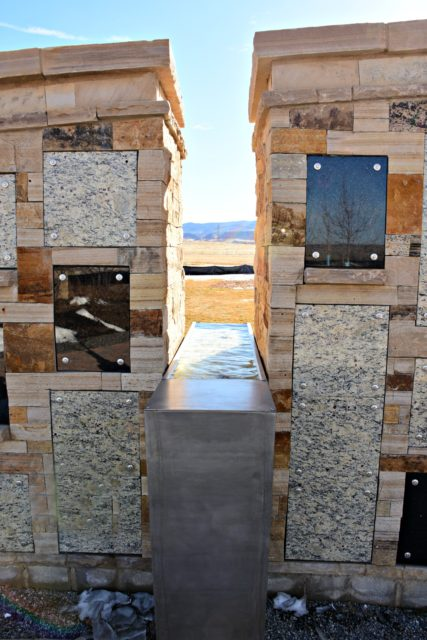 The Touchstone Niche Wall cremation memorial at Seven Stones Cemetery in Denver