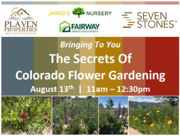 August 13 Flower Gardening Workshop